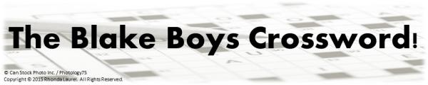 Crosswords Banner Blake Boys