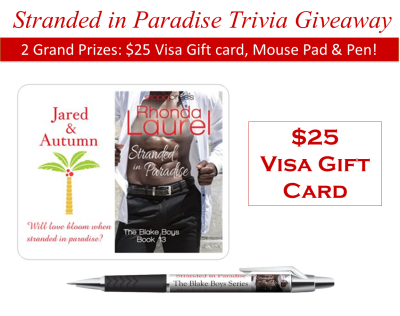 Stranded in Paradise Trivia Giveaway Banner