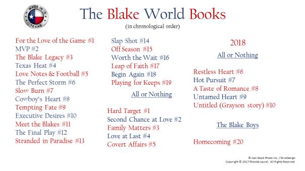 The Blake Series List-Updated 061018